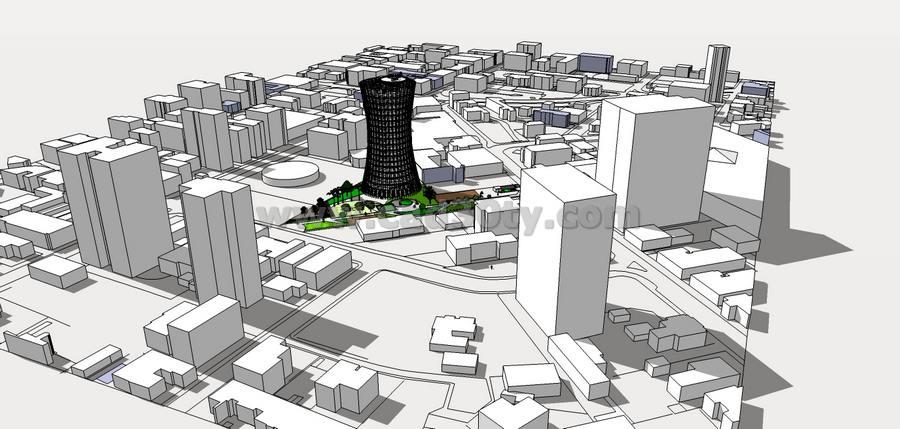 نقشه ساختمان اداری به همراه سه بعدی و پوستر - کدسیتی-سایت تخصصی معماری